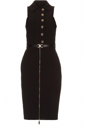ELISABETTA FRANCHI |  Dress with golden zipper Camilla | black