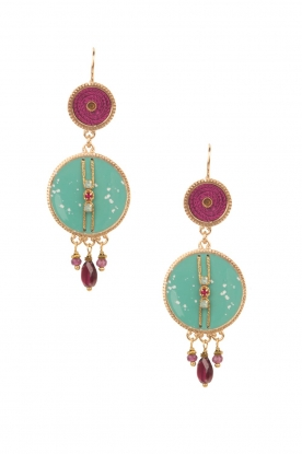 Satellite Paris |  14ct gold gilded earrings Marci | turquoise