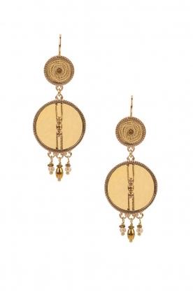 Satellite Paris | 14k goud vergulden oorbellen DMarci |goud