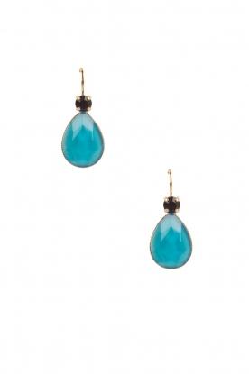 Satellite Paris | 14k goud vergulden oorbellen Jade | turquoise