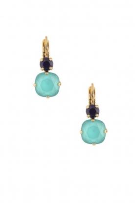 Satellite Paris | 14k goud vergulden oorbellen Aliya | blauw