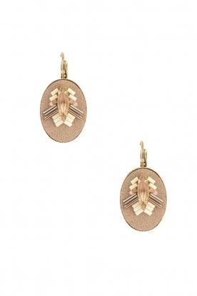 14k goud vergulden oorbellen Aiko  roze