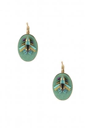 Satellite Paris | 14k goud vergulden oorbellen Aiko | turquoise