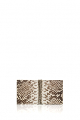 Tembi |  Leather wallet Snake | white
