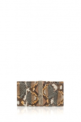 Tembi | Leather wallet Snake | brown