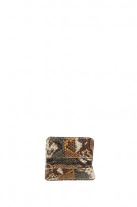 Tembi | Leren pasjeshouder Snake | bruin