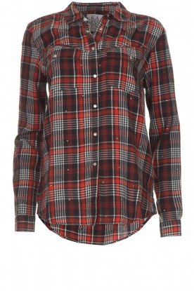 Zoe Karssen |  Plaid blouse Checked | red