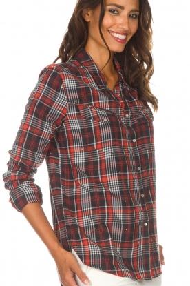 Zoe Karssen | Geruite blouse Checked | rood