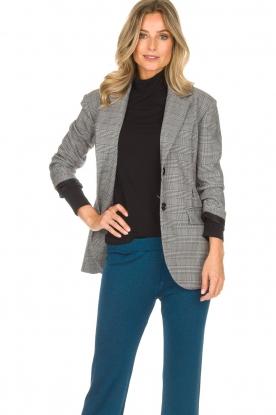 AnnaRita N |  Checkered blazer Paola | grey
