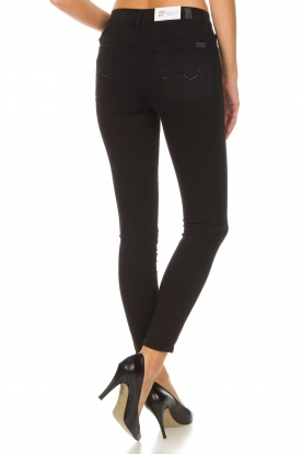 7 For All Mankind | Skinny jeans The Skinny Crop | zwart