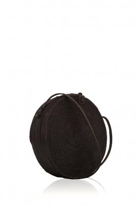 Little Soho | Rotan tas Bali groot | zwart