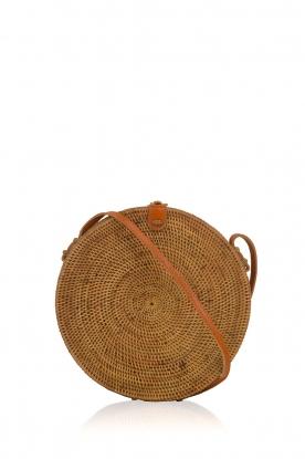 Little Soho | Rotan tas Bali groot | bruin