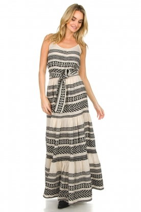 Devotion |  Maxi dress Neyla | black & white