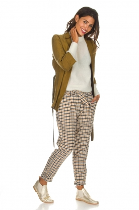 Aaiko |  Checkered trousers Checks | camel
