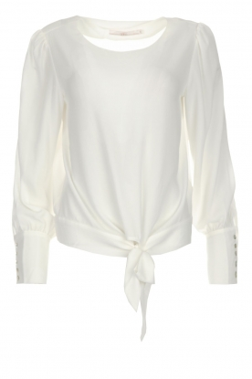 Aaiko | Blouse met strik Zenai | Naturel
