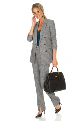 Aaiko |  Checkered trousers Carilla | grey
