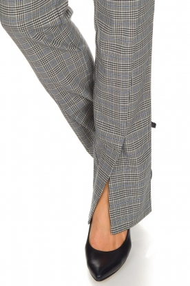 Aaiko | Geruite pantalon Carilla | grijs