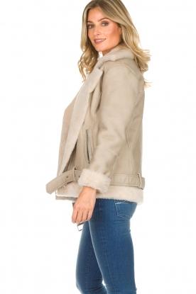 Set | Lammy coat Amarins | grijs