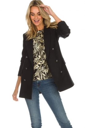 Set | Double-breasted blazer Carmen | zwart