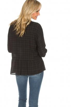 Set | Geruite blouse Pip | groen