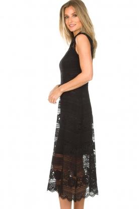 Set | Kanten maxi-jurk Florine | zwart