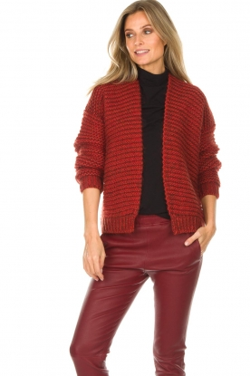 Set |  Knitted cardigan Vieve | red