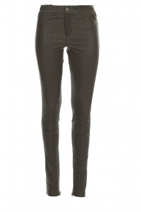 Set |  Leather pants Nadine | grey