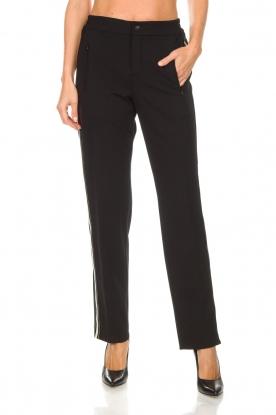 Set   Sportieve pantalon met zijstrepen Lina   zwart