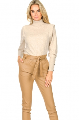 Dante 6 |  Turtleneck with buttons Quentin | natural