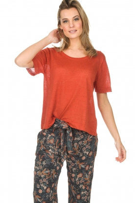 American Vintage | Top Flaxcity | rood