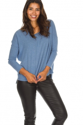Not Shy |  Cashmere sweater Rosanna | blue