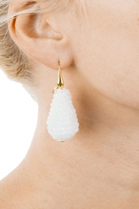Miccy's | Oorbellen Crystal Drops | wit