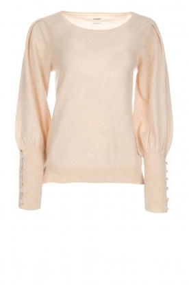 Not Shy |  Sweaterwith puff sleeves Seraphine | beige