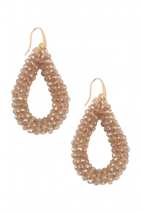 Miccy's |  Earrings Open Crystals| nude