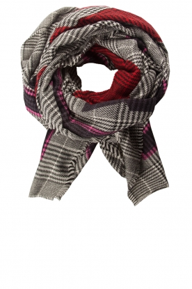 Moment by Moment |  Checkered scarf Elia | pink