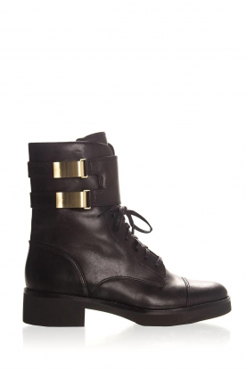 What For | Leather boots Kirsten | black