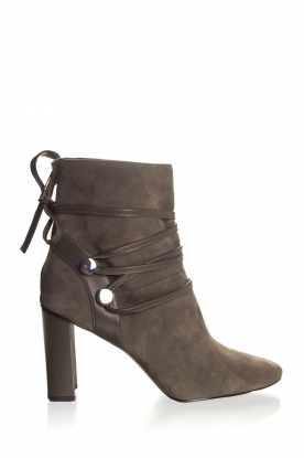 What For |  Leather ankle boots Micky | grey