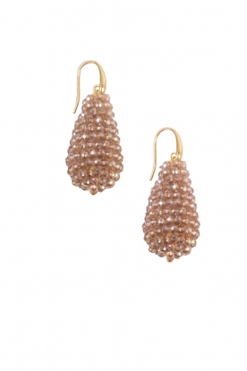 Miccy's |  Earrings Crystal Drops XL | nude