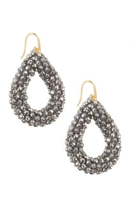 Miccy's |  Earrings Midnight drops | silver