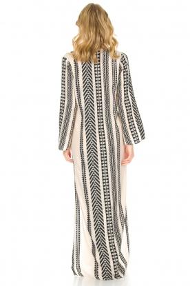 Devotion | Maxi-jurk Delia | zwartwit