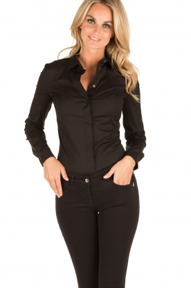Patrizia Pepe |  Body blouse Esra | black