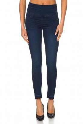 Patrizia Pepe | High waist stretch jeans Sevella | Blauw
