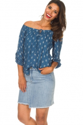BEACHGOLD |  Off-shoulder top Maisey | blue