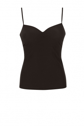 Hanro |  Padded bra top Allure | black