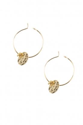 Lilly   14k goud vergulden oorbellen Charm   goud