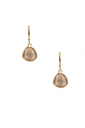 Lilly | 14k goud vergulden oorbellen Drop Crystal | champagne