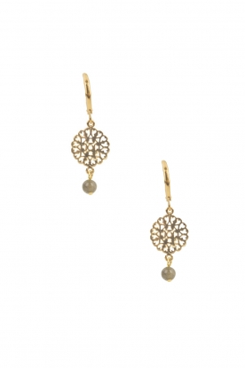 Lilly |  14k gold plated earrings Filli small | green