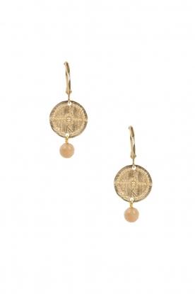 Lilly | 14k goud vergulden oorbellen Filli small | nude
