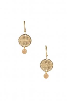 Lilly | 14k goud vergulden oorbellen Inca | goud