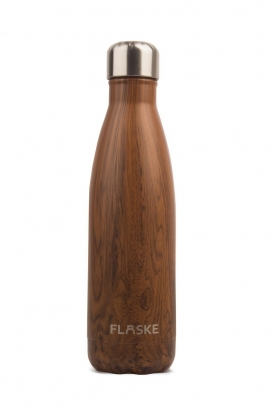 Flaske | Thermosfles Forrest warm/koud 500 ml | donkerbruin